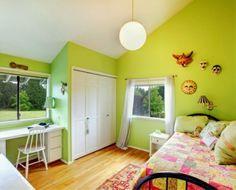 Wandfarbe Grün Kleines Modell Schlafzimmer Accessoires An Der
