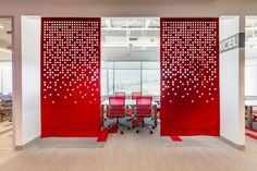 Scott Long Construction Office by Clockwork Architecture + Design - Office Snapshots Office Space Design, Workplace Design, Office Interior Design, Interior Exterior, Corporate Design, Interior Architecture, Corporate Interiors, Office Interiors, Office Dividers
