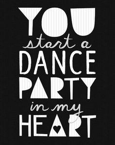 Dancing is a good feeling.