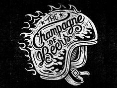 The Champagne of Beers - Woodblock by Derrick Castle