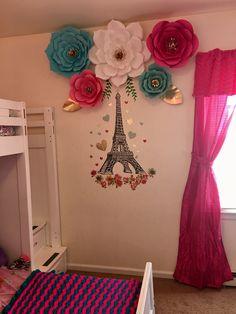 Paper flower backdrop decor