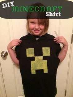 DIY Minecraft Creeper Shirt Tutorial (Printable Template included)