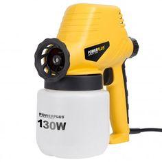 Bis zu 320 g/min Sprühmenge, bei 130 Watt Leistung. #Powerplus #Farbspritzpistole