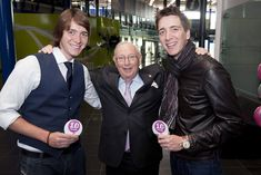 https://flic.kr/p/eL6ivi | Millennium Point 10th Birthday | Millennium Point 10th Birthday, Birmingham. 24th September 2011. Pictured are guests Oliver and James Phelps from the Harry Potter films with Sir Bernard Zissman. Picture by Simon Hadley 07774 193699 mail@simonhadley.co.uk www.simonhadley.co.uk