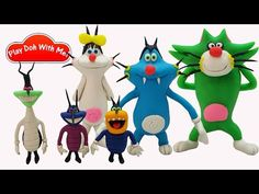 How To Make Oggy And The Cockroaches Characters With Play Doh - YouTube