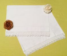 Luxury hand embroidered linen set of pillowcase.White cotton bed linen with embroidery lace. Cotton Bedding, Cotton Pillow, Linen Bedding, Bed Linen, Decorative Pillow Covers, White Cotton, Hand Embroidery, Create Yourself, Etsy Seller