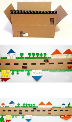 mommo design: 6 DIY CARDBOARD TOYS - cardboard road