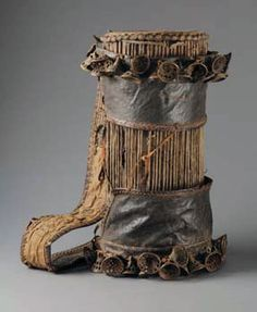 "Africa | Drum ""iya-ilu"" from the Yoruba people of Nigeria 