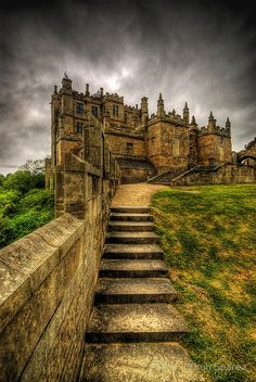 Bolsover Castle founded in the 12th century by the Peverel family is located in Derbyshire, England, UK
