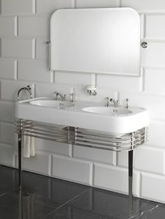 The design of the new Wide Blues Console sink unit by Italian luxury bathroom product manufacturer Devon & Devon is. Bathroom Furniture, Vanity, Bathroom Sink Vanity, Bathroom Console, Home Depot Bathroom Vanity, Console Sink, Devon Devon, Sink, Bathroom Inspiration