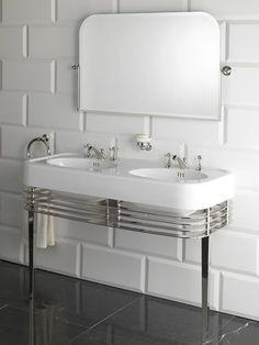 Devon Console for Wide Blues double basin. Wide Blues double basin (1-3 tap holes).