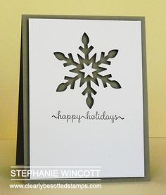 Clearly Besotted Stamps Snowflake Trio Die Collection | Clearly Besotted Stamps