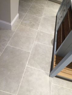 Morocco Grey Limestone Tile — post - Home: Living color Kitchen Floor Tile Patterns, Kitchen Tiles Design, Tile Design, Grey Floor Tiles Bathroom, Grey Kitchen Tiles, Modern Grey Kitchen, Minimalistic Kitchen, Wood Bathroom, Bath Design