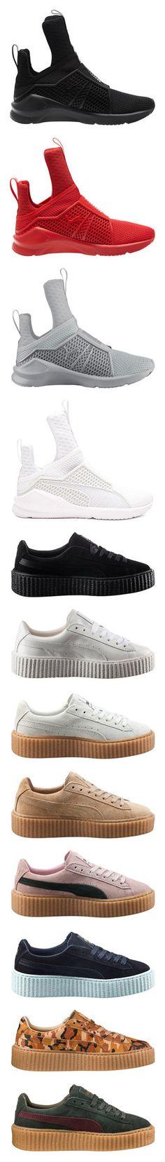 4d7f3255f708ea  Fenty X Puma by princess-kiana ❤ liked on Polyvore featuring shoes