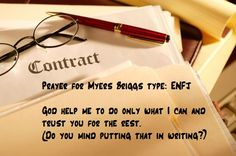 Prayer for Myers Briggs type: ENFJ.