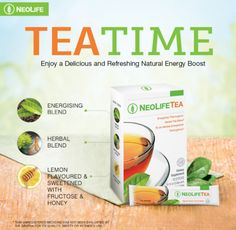 Beat the mid-afternoon slump with NeoLife Tea! If you're interested in buying this product, please contact Veronica via WhatsApp on +27 83 667 7540 Tea Blends, Refreshing Drinks, Healthy Alternatives, Tea Time, Herbalism, The Cure, Health Fitness, Herbs, Nutrition