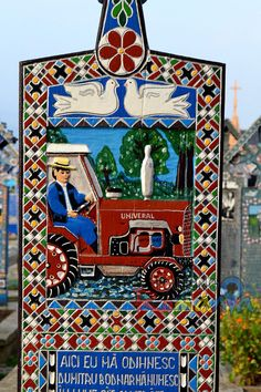 Merry Cemetery - Sapanta - Romania Eurotrip, Cemetery Art, Europe Destinations, Hungary, Folk Art, Countries, Places To Visit, Merry, Popular