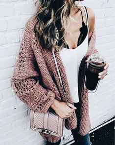 Cozy casual outfit.