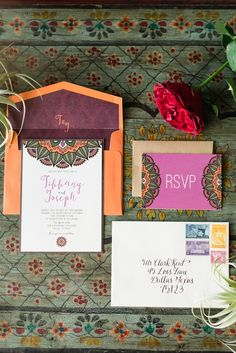 Moroccan invitations invitations - photo by Jennifer Crenshaw Photography http://ruffledblog.com/wedding-ideas-inspired-by-wanderlust