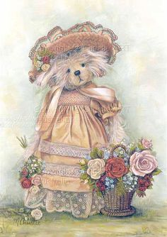 Wonderful Ribbon Embroidery Flowers by Hand Ideas. Enchanting Ribbon Embroidery Flowers by Hand Ideas. Silk Ribbon Embroidery, Embroidery Kits, Cute Images, Cute Pictures, Etiquette Vintage, Teddy Bear Pictures, Tatty Teddy, Cute Teddy Bears, Bear Art