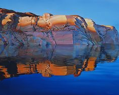 Morning Light, 48x60, Oil, gallery wrap by Ron Larson Oil ~ 48 x 60, Lake Powell