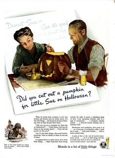 Vintage Halloween Ad ~ Brewing Industry Foundation ©1944