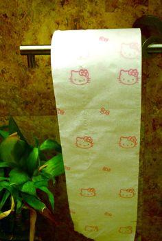 Hello Kitty toilet paper.  Lols <3