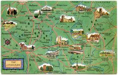 Postcard map of the Cotswolds | Flickr - Photo Sharing!