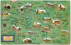 The Cotswolds, Gloucestershire, England. Salmon Ltd. England Map, Homes England, Cotswolds Map, United Kingdom Map, Kingdom 3, London Travel, Travel Uk, Travel Info, England And Scotland