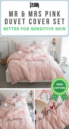 Pink Couples Bedding Set ✔️ Cotton Fabric ✔️ Hypoallergenic Qualities ✔️ No Chemical Retention ✔️ Active Environmental Printing ✔️ Sensitive Skin Friendly Fabric Pink Bedding Set, Cotton Bedding Sets, Couple Bed, Natural Bedding, Duvet Cover Sets, Bed Sheets, Diy Home Decor, Pocket Charts, Environmental Print