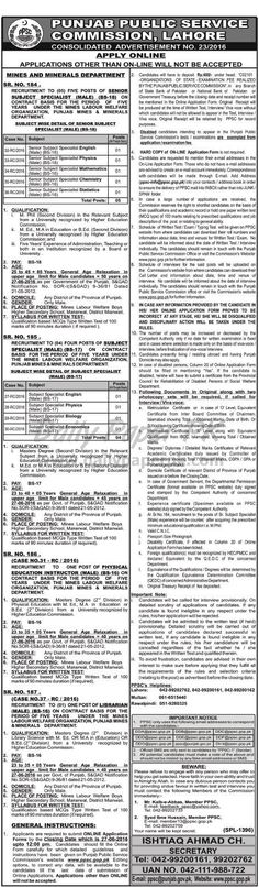 Government Jobs through Punjab Public Service Commission PPSC Lahore 23/2016 For ‪#‎jobs‬ detail and how to apply:  http://www.dailypaperpk.com/jobs/250981/government-jobs-through-punjab-public-service-commission-ppsc-lahore-23-2016
