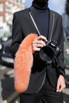 Pop of colour from the fur.
