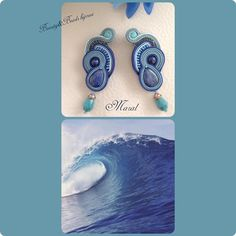 """Nuova settimana, nuova creazione...Modello """"Maral"""" con lapis e retro in pelle, nei colori del 🌊🌊 orecchini#earrings#soutache#soutacheearrings#beautyandbeadsbijoux#beautyandbeadsbijouxsoutache#beautyandbeadsbijouxsoutacheearrings#handmade#fashion#fashionblogger#bijoux#jewelry#ootd#picoftheday#photooftheday#makeup#makeupartist#youtube#girl#igers#instagram#newcollection#ss2016#sea#blue#leather#beauty#style#shopping#iphonesia#iphoneonly"""