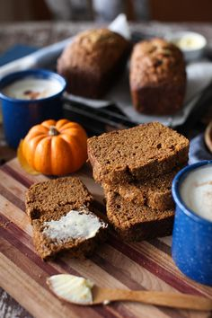 Lightly-spiced Pumpkin-Olive Oil Bread is perfect fall comfort food. Enjoy warm or make ahead and freeze. Pumpkin Bread, Pumpkin Puree, Pumpkin Spice, Spiced Pumpkin, Bread Recipes, Baking Recipes, Dessert Recipes, Brunch Recipes, Delicious Desserts