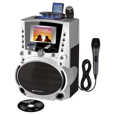 """""""CD/CDG/MP3/MP3G Karaoke Player. Mix and Record Music Voice and Guitar.4 Color Screen. 20W Speaker. Record Playback Button. Includes 100 MP3G..."""""""""""""""