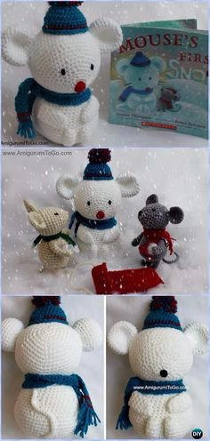 Crochet Snowman Built For A Mouse Amigurumi Free Pattern - Amigurumi Crochet Snowman Stuffies Toys Free Patterns