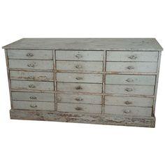 18 Drawer Multi Dresser Base France c. 1910