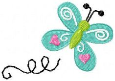 Try this butterfly machine embroidery design for FREE!  Butterfly Trail 4×4 « Oma's Place
