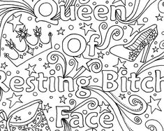 The Artful Maker by TheArtfulMaker on Etsy Swear Word Coloring Book, Love Coloring Pages, Printable Adult Coloring Pages, Coloring Books, To Color, Color Sheets, Color Quotes, Cupid, Sunflowers
