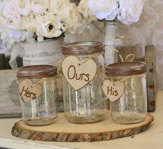 Wedding Sand Ceremony Jars Rustic Chic Decor item by braggingbags, $45.50