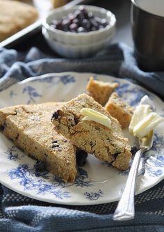 Blueberry orange scones (gluten-free, grain-free)