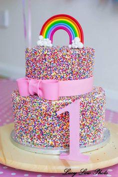 Sprinkles in the Wild Rainbow Sprinkle Cakes, Rainbow Sprinkles, Little Pony Birthday Party, 10th Birthday Parties, Jojo Siwa Birthday, Rainbow Birthday, Fiesta Little Pony, Twin Birthday Cakes, Friends Cake