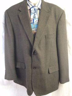 Pronto Uomo Sports Coat Size 46 Two Button 100% Lambswool Houndstooth Blazer #ProntoUomo #TwoButton