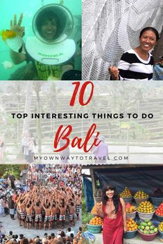 Have you visited the magical Bali Island? If you're visiting for the first time you'll definitely love to do many interesting things around Bali. Here is the list of 10 top interesting things to do in #Bali during your trip. #topthingstodo #top10bali #BaliTravel #visitbali