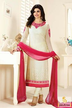 #PrachiDesai #Cream and #Pink Chiffon Braso and Santoon Wedding Dress #salwarsuit, #salwarkameez, #bollywood, #hearoine, #actress, #partywear, #wedding, #latest, #dresses, #newcollection, #embroidered, #ethincwear, #celebrity More Product : http://www.pavitraa.in/store/bollywood-salwar-suit/ Any Query :  Call / WhatsApp : +91-76982-34040  E-mail: info@pavitraa.in
