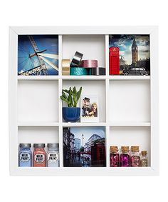 This Storage Frame Wall Shelf I would love to have several of these...Hmm a project in itself...