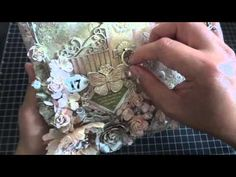 ▶ Discount Paper Crafts Design Team Call: Altered Mixed Media Canvas - YouTube