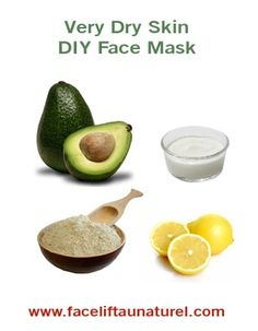 DIY facial skincare for very dry skin: This mask has a lot of moisturizing and replenishing benefits, which makes it ideal for dry skin! Draws out impurities and leaves skin glowing. Click for recipe.