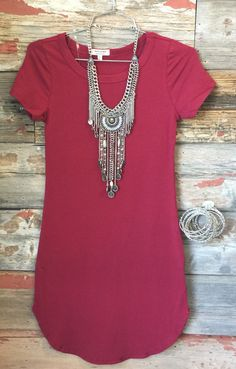 Fun in the Sun Tunic Dress: Burgundy from privityboutique