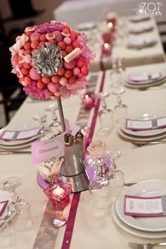 ARBRE A BONBON TAGADA (avec tagada rose et tagada purple) POUR CENTRE DE TABLE GOURMAND!